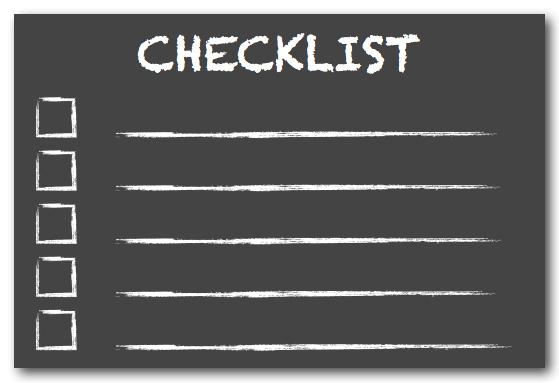 SB061 checklist