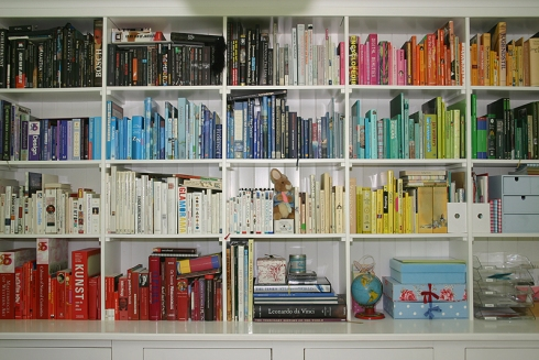 Full book shelves