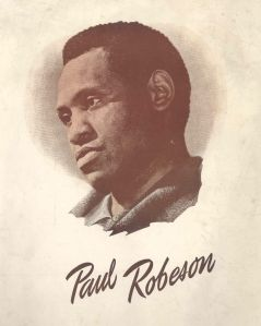 Programme for Paul Robeson%27s recital tour of Britain in Spring 1949