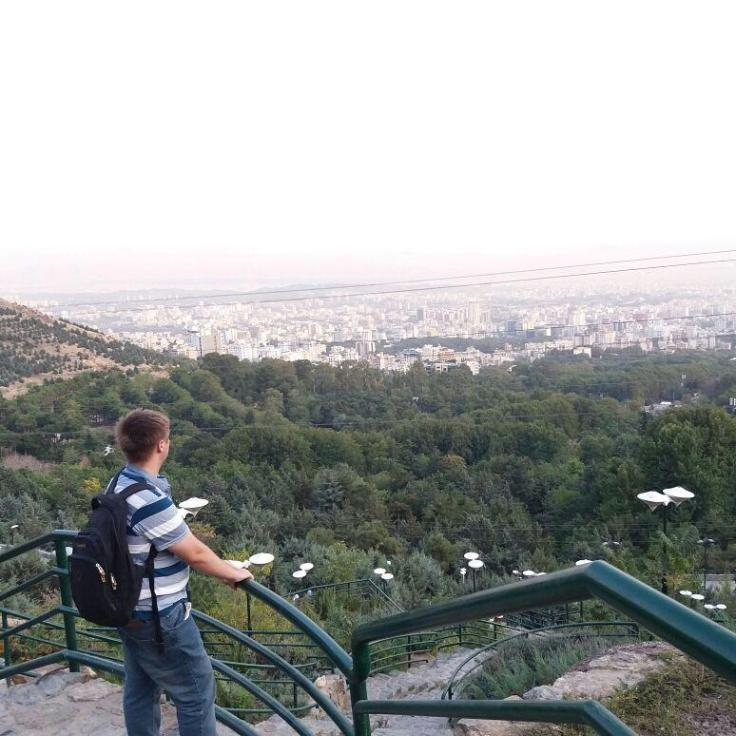 Picture of me staring into the city of Tehran, amazed at how much I've climbed and terrified of how many more steps I have to walk to get home, i.e. a 2 hour walk…